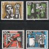 Germany SG1189-1192 1957 Humanitarian Relief Fund set 4v complete unmounted mint
